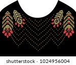 rhinestone applique for t shirt ... | Shutterstock .eps vector #1024956004