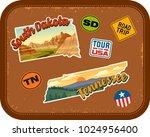 south dakota  tennessee travel...   Shutterstock .eps vector #1024956400