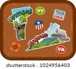 vermont  virginia travel...   Shutterstock .eps vector #1024956403
