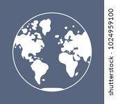 world map icon  globe western...   Shutterstock .eps vector #1024959100