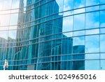 glass walls of urban skyscrapers | Shutterstock . vector #1024965016