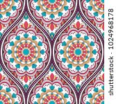 seamless pattern with ethnic...   Shutterstock . vector #1024968178