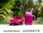 fresh smoothies from a dragon...   Shutterstock . vector #1024968778