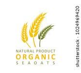 wheat paddy logo | Shutterstock .eps vector #1024969420