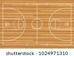 basketball court floor with... | Shutterstock .eps vector #1024971310