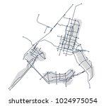 digital city. electronic... | Shutterstock .eps vector #1024975054