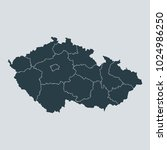 czech republic map on white... | Shutterstock .eps vector #1024986250
