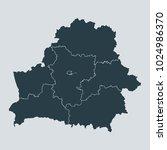 belarus map on white background ... | Shutterstock .eps vector #1024986370