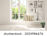 white room with chair and... | Shutterstock . vector #1024986676