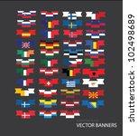flag banners | Shutterstock .eps vector #102498689