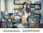 professional set of camera with ... | Shutterstock . vector #1024992040