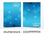 scientific brochure design... | Shutterstock .eps vector #1024999954