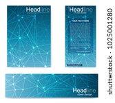 set flyer  brochure size a4...   Shutterstock .eps vector #1025001280