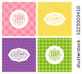 set of seamless pattern and... | Shutterstock .eps vector #1025003410