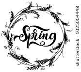 spring lettering. elements for...   Shutterstock .eps vector #1025004448