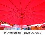 umbrella background   texture | Shutterstock . vector #1025007088