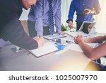 business people meeting design... | Shutterstock . vector #1025007970