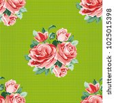 seamless floral pattern with... | Shutterstock .eps vector #1025015398