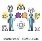 engage business set icons | Shutterstock .eps vector #1025018938
