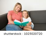 young beautiful and happy women ... | Shutterstock . vector #1025020720