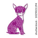 dog mandala boho style   Shutterstock .eps vector #1025021194