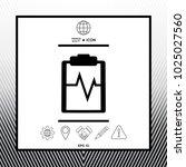 electrocardiogram symbol icon   Shutterstock .eps vector #1025027560
