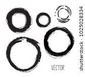 set of hand drawn circles ... | Shutterstock .eps vector #1025028334