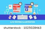 website ab testing  split... | Shutterstock .eps vector #1025028463
