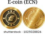 set of physical golden coin e... | Shutterstock .eps vector #1025028826