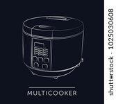 multi cooker  slow cooker  icon ...   Shutterstock .eps vector #1025030608