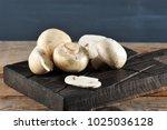 fresh white mushrooms...   Shutterstock . vector #1025036128