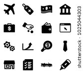 solid vector icon set   plane... | Shutterstock .eps vector #1025044303