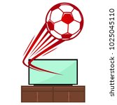 tv and ball vector. free space... | Shutterstock .eps vector #1025045110