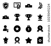 solid vector icon set   shield... | Shutterstock .eps vector #1025045224