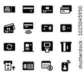 solid vector icon set   ticket... | Shutterstock .eps vector #1025045950