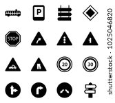 solid vector icon set   airport ... | Shutterstock .eps vector #1025046820