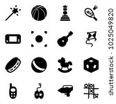 solid vector icon set   magic... | Shutterstock .eps vector #1025049820