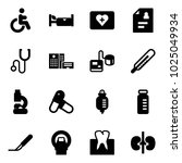 solid vector icon set  ... | Shutterstock .eps vector #1025049934