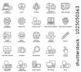 icons for communication ... | Shutterstock .eps vector #1025050363