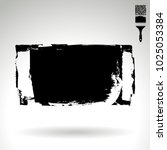 black brush stroke and texture. ... | Shutterstock .eps vector #1025053384