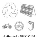 bio label  eco bike  solar... | Shutterstock .eps vector #1025056108