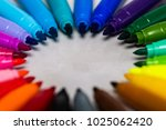 Set Of Colored Markers