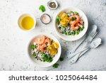 healthy easy food. wild rice... | Shutterstock . vector #1025064484
