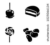 confectionery vector icons | Shutterstock .eps vector #1025066134