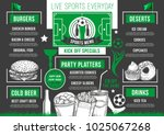 soccer sports pub or bar menu... | Shutterstock .eps vector #1025067268