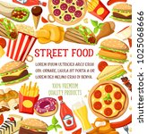 fastfood street food meals and... | Shutterstock .eps vector #1025068666