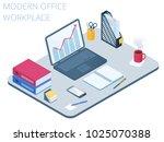 flat isometric illustration of... | Shutterstock .eps vector #1025070388