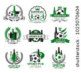 soccer sports pub icons for... | Shutterstock .eps vector #1025070604