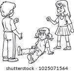 angry girls fighting... | Shutterstock .eps vector #1025071564