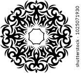 tribal tattoo circular vector... | Shutterstock .eps vector #1025071930